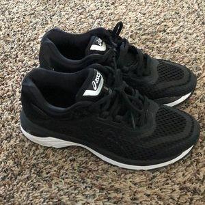 ASICS running shoes.